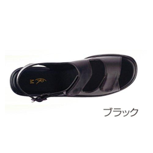 エアー2バンドサンダル 黒(ブラック) L(23.5-24.0cm) FR-442 ファーストレイト